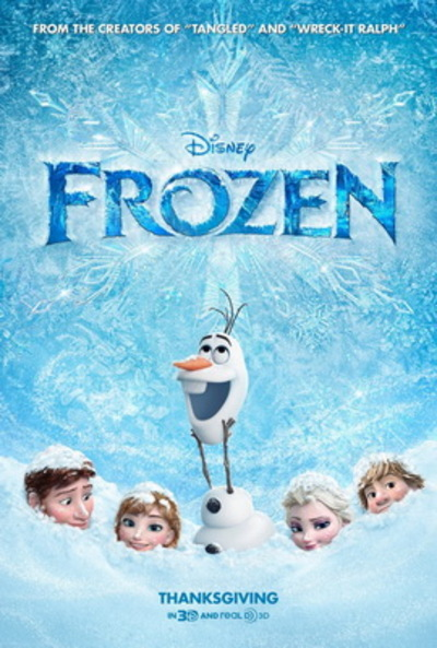 Frozen Theatrical poster, Disney (wikipedia)