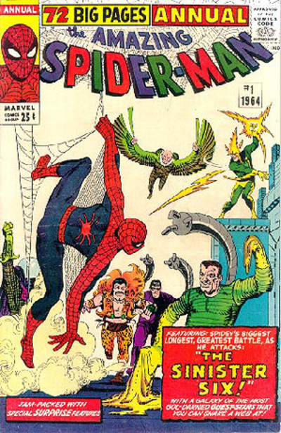 The Amazing Spiderman Annual #1, the first appearance of The Sinister Six