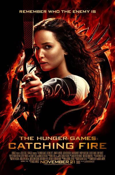 The Hunger Games Catching Fire Movie Poster Staring Jennifer Lawrence
